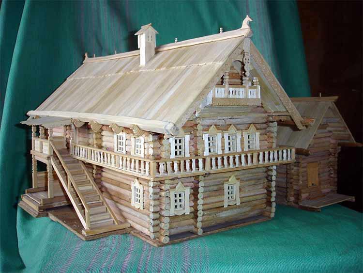 Деревянный макет дома своими руками