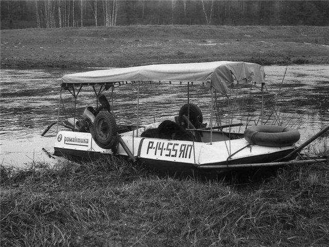 мотоблок на перевозки лодки